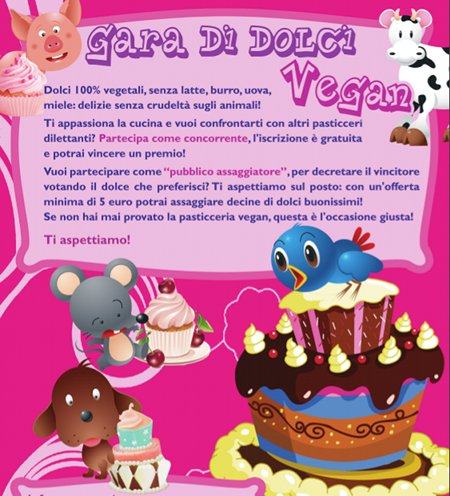 Gara nazionale di dolci vegan